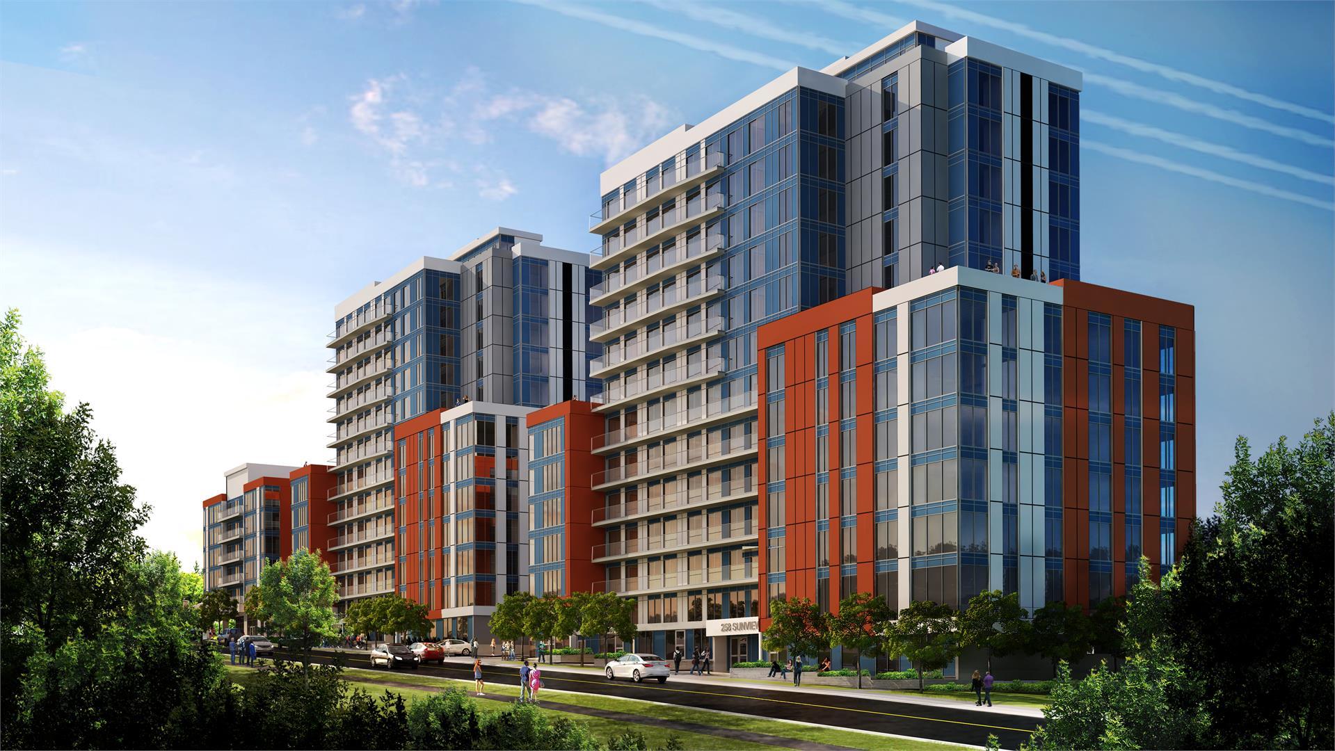 Condoville Club Toronto. Luxury Preconstruction Condos, Real Estate Ontario, Rental Guarantee, New Condos, Sunview Suites Kitchener Waterloo building
